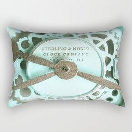 Clockwork Aqua Rectangular Pillow