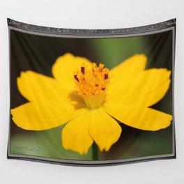 Cosmos Sulphureus named Ladybird Dwarf Lemon Wall Tapestry