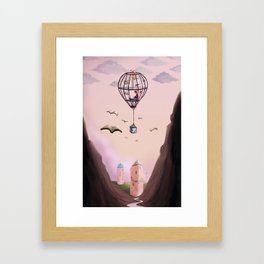 A Very Bookish Adventure Framed Art Print