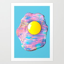 Fried Fluidity Art Print