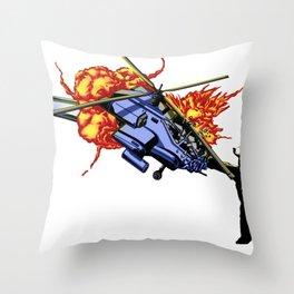 Bear vs. Apache Throw Pillow