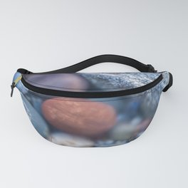Colorful pebbles covered by ocean water Fanny Pack