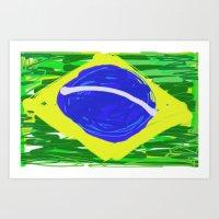 brasil Art Prints featuring BRASIL by Fabiano ART