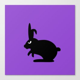 Angry Animals: Bunny Canvas Print