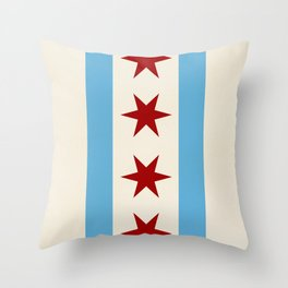 Chicago Flag II Throw Pillow