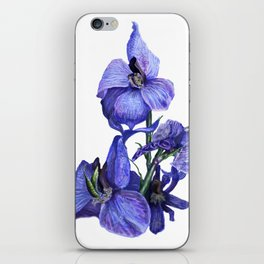 flower dressed in blues iPhone Skin