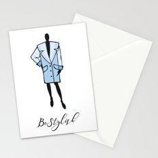 lady clothes icon Stationery Cards