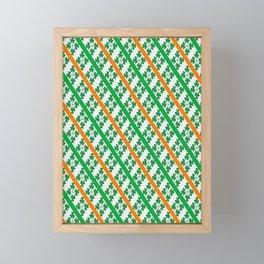 Irish Tricolour Design Framed Mini Art Print