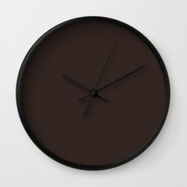 Eagle Eye ~ Cocoa Brown Coordinating Solid Wall Clock