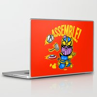 thanos Laptop & iPad Skins featuring Assemble! by Demonigote