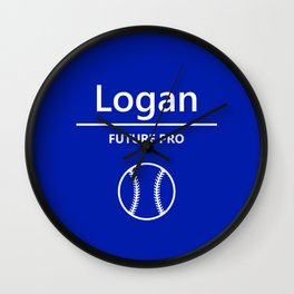 Baseball - Future Pro - Logan Wall Clock