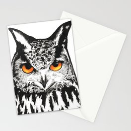 Fire-Eyed Owl Stationery Cards