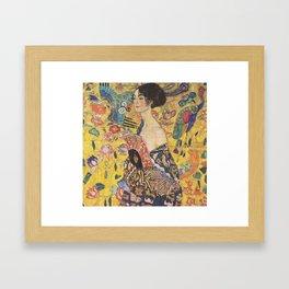 Woman with a Fan Framed Art Print