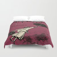mary poppins Duvet Covers featuring Mary Poppins by MW. [by Mathius Wilder]