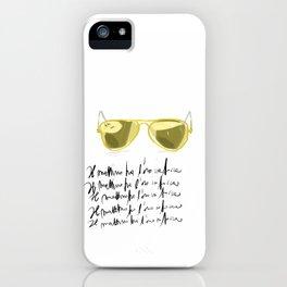 Il mattino ha l'oro in bocca iPhone Case