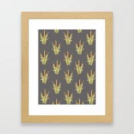 fall cattails Framed Art Print
