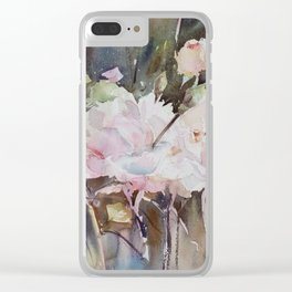 Rose Garden with Sepia Clear iPhone Case