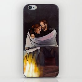 fireplace cuddles // kabby iPhone Skin