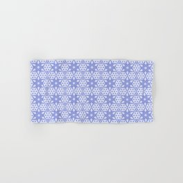 Stars and Hexagons Pattern - Mood Indigo Hand & Bath Towel