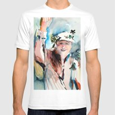 Victory White MEDIUM Mens Fitted Tee
