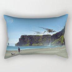 new planet, old habits... Rectangular Pillow