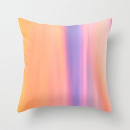 Abstract Speed Blur of Sunset Throw Pillow