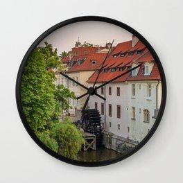 Water Mill, Kampa Island, Prague, Czech Republic Wall Clock