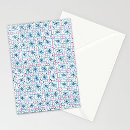 Plaza Inspired Tile Pattern Stationery Cards