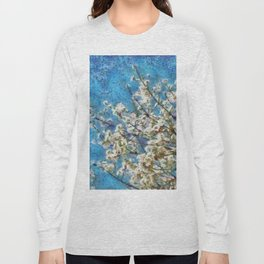 Blossom and Blue Sky In Monet Style Long Sleeve T-shirt