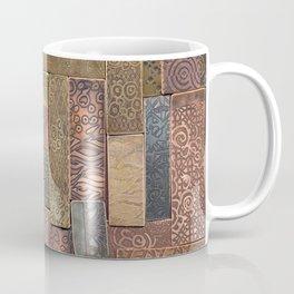 Etched Metal Patchwork Coffee Mug