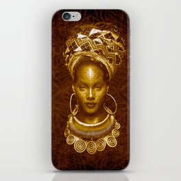 Afrofuturist style iPhone Skin