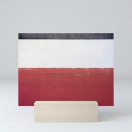 Black White Red 01 Mini Art Print