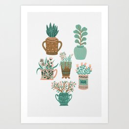 House Plant Gang Art Print