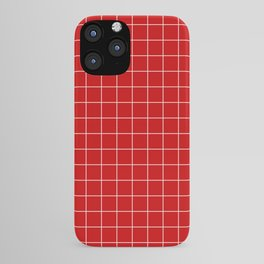 Grid Red iPhone Case