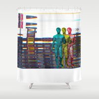 western Shower Curtains featuring Western Culture by Tyler Hewitt