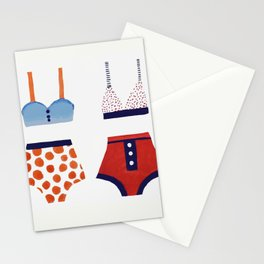 Les bikinis rétro Stationery Cards