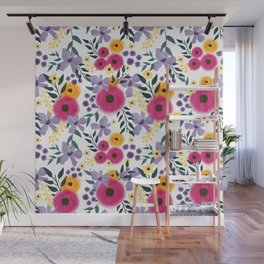 Spring Floral Bouquet Wall Mural
