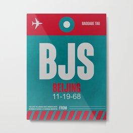 BJS Beijing Luggage Tag 1 Metal Print