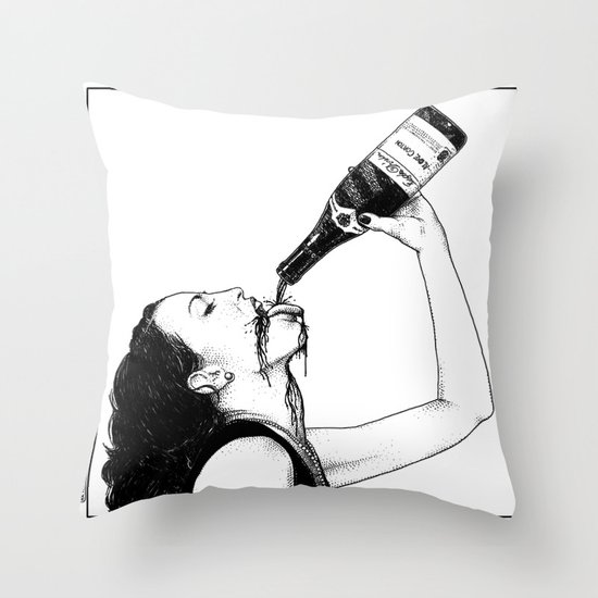 asc 560 - La bouteille (My friend Aloxe) Throw Pillow