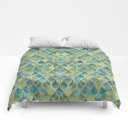 Mermaid Scales (green) Comforters