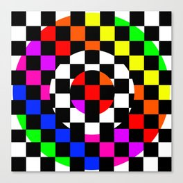 Triggle | Colorful Secret Geomoetry | Play Canvas Print