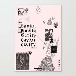 CAVITY ZINE VOL. II POSTER Canvas Print