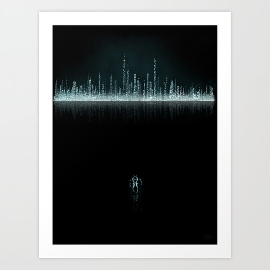 TRON CITY Art Print