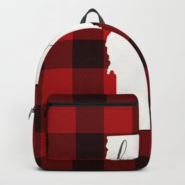 Vermont is Home - Buffalo Check Plaid Backpack