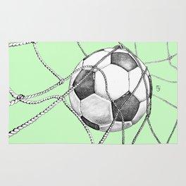 Goal in green Rug