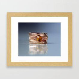 Handmade Stackable Birthstone Rings Framed Art Print