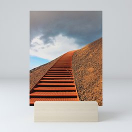Stairway to Saxholl Crater, Iceland Mini Art Print