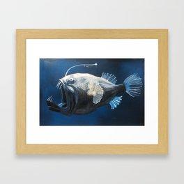 Sea monster. Angler fish Framed Art Print