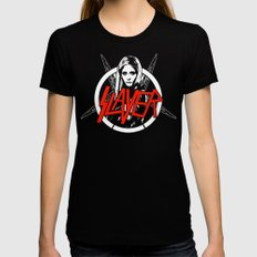 Vampire Slayer Black SMALL Womens Fitted Tee