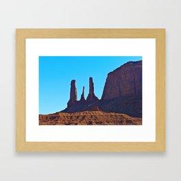 Blue Sky & Rock Framed Art Print